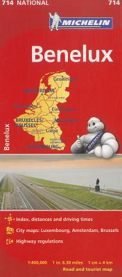 Michelin Map 714 Benelux By Michelin Travel & Lifestyle (COR)